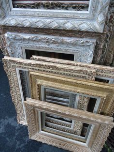 We loved these antique frames at the flea market in Paris!