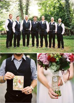 I LOVE the way the groom/groomsmen look. :)