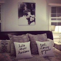 His and hers pillows