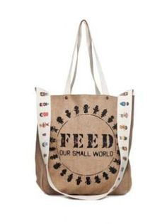 """Love the """"SMALL WORLD"""" aspect of this!     FEED Our Small World Bag - FSW001  This convertible messenger tote is the perfect everyday bag that also helps children in need across the world. Each FEED Our Small World Bag purchased* will generate funding to help UNICEF supply 500 children with a year's worth of essential Vitamin A supplements - a nutrient proven to be particularly crucial to the health of a growing child."""