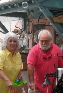 The QUEEN of G.R.I.T.S (Girls Raised in the South), PAULA DEEN,  our favorite deep dish, Southern fried, goddess of gastronomical glam, and her handsome hubby, Capt. Michael.