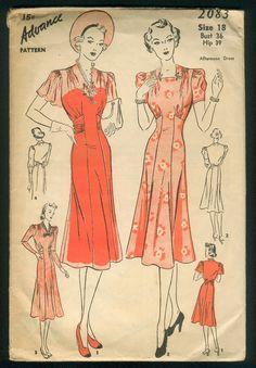 dress patterns, 1940s dress, sew pattern, favorit vintag, vintag cloth, vintag garment, cloth 1940s