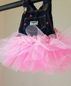 Baby girl Tutu Denim Overalls by GoldenFern on Etsy