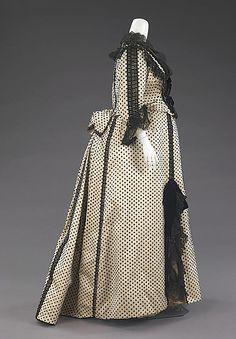 Dress, Dinner. House of Worth. Designer: Charles Frederick Worth. Date: 1880–90. Culture: French. Medium: silk, jet.