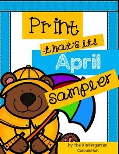 """This is a sampler of the April """"Print - That's It!"""" You will receive 4 printable pages from the pack. The full pack contains 47 printable pages for April and can be viewed and purchased HERE"""