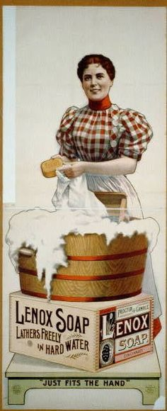 Lenox soap ad,Vintage. | Smelly Laundry? | Washer Odor? | http://WasherFan.com | Permanently Eliminate or Prevent Washer & Laundry Odor with Washer Fan™ Breeze™ | #Laundry #WasherOdor  #SWS