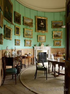 Amongst the gilt-framed paintings that grace the curved walls of the private dining room are a couple by Canaletto ~ Goodwood