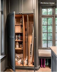 Laundry & Mud Room - Glen Ellyn, IL - Scandinavian - Laundry Room - Chicago - by PB Kitchen Design Mudroom Laundry Room, Laundry Room Cabinets, Laundry Room Organization, Laundry Room Design, Kitchen Design, Organization Ideas, Storage Ideas, Kitchen Pantry Cabinets, Utility Closet