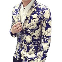 In-Style Mens Blazer with Floral Pattern #mens #blazer #stylish #blazersnap More blazers http://www.blazersnap.com/blazersnap-luxury-clothes-blazers-collection/mens-selection/amazing-blazers-for-men-c-998349867.html