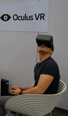The Oculus Rift in action.
