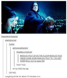 snape is getting cray.