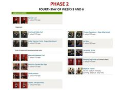 PHASE 2 WORKOUT