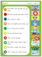 Kleuterjuf in een kleuterklas: GROEP 3 | Piccolo- / knijpkaarten Veilig Leren Lezen KIM