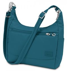 Pacsafe Citysafe CS100 (Selected Colour: Teal)  Anti-theft Body Travel Bag Code: Citysafe CS100 - Zippered main compartment - RFID safe and slash proof - Key clip and wallet ring Includes Free Delivery* $119.00 $169.95 You save 30 %  In stock