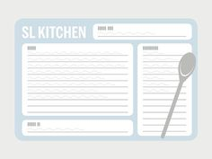 Generic Recipe Card Graphic