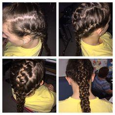 Triple French braid