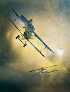 Albatros pursues Nieuport Ww2 Aircraft, Fighter Aircraft, Military Aircraft, Fighter Jets, Airplane Drawing, Airplane Art, Military Photos, Military Art, Military Weapons