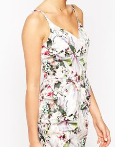 Image 3 of ASOS Hitchcock Pencil Dress In Dusty Pink Floral