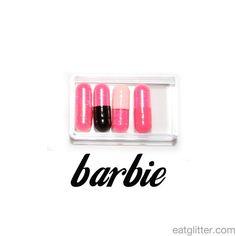 barbie glitter pills