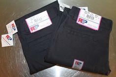 2 NEW Navy Blue Uniform School Pants - Size 10 x 27 Stretchy w/ Adjustable Waist #RoyalPark #Pants #Everyday