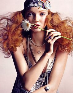 Lily Cole (1988). English model and actress, been in 10 movies, awarded a Double First in History of Art at the University of Cambridge. (*source unknown)