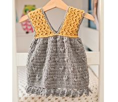 Instant download - Dress Crochet PATTERN (pdf file) - Little Miss Sunshine Dress (sizes up to 8 years)