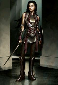 Fantasy warrior women with huge tits and skimpy costumes