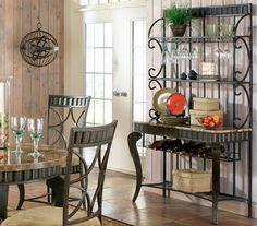 elegant decorative  designer bakers racks furniture | Decorating ideas for a bakers rack