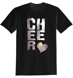 #spiritaccessories now offers tees with metallic writing on it! They're cute and comfy! #cheer #apparel #spirit #accessories