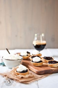 Blackberry Stout Mini Pies with Beer Whipped Cream