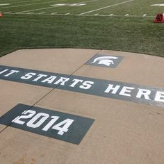 It Starts Here. Practice #1 is underway. #msufootball #spartans #Padgram