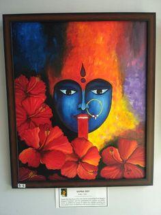 Durga Maa Paintings, Durga Painting, Buddha Painting, Buddha Art, Black Canvas Paintings, Easy Canvas Painting, Indian Art Paintings, Ganesha Art, Krishna Art
