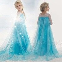 Buy Sale Hot Ice Princess Frozen Snow Queen Elsa Party Cosplay Costume Dress at Wish - Shopping Made Fun Girls Lace Dress, Girls Dresses, Prom Dresses, Formal Dresses, Costume Dress, Cosplay Costumes, Frozen Snow Queen, Ice Princess, Queen Elsa