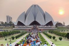 Photograph-India, Delhi, Lotus Temple, the Baha& House of Worship, popularly known as Photo Print expertly made in the USA Laos Travel, Vietnam Travel, India Travel, Luxor, Bangkok Thailand, Kyoto, Sri Lanka, Nepal, Temple