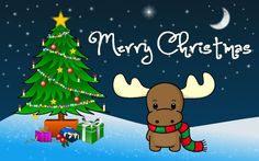 Merry Christmas Wishes Merry Christmas Pictures, Christmas Moose, Cute Christmas Tree, Merry Christmas Wishes, Christmas Decorations, Christmas Artwork, Santa Pictures, Christmas Angels, Christmas Christmas
