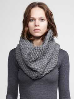 The Snood Dogg may very well be the most versatile pattern you ever knit. This multi-functional hybrid can be worn so many different ways. Try this cowl-scarf combination over your coat, sweater, or even a little black dress.