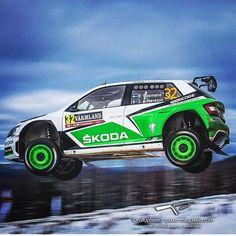 """Flying @pontustidemand @skodamotorsport @rallysweden ; : @rallypixels"" Sport Cars, Race Cars, Rallye Wrc, Wheel In The Sky, Race Tracks, Skoda Fabia, Rally Car, Car Ins, Motorcycles"