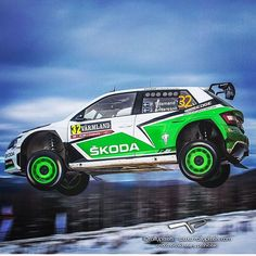 """Flying @pontustidemand @skodamotorsport @rallysweden ; : @rallypixels"""