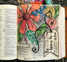 Bible Journaling by Kaylee King Some of these are beautiful,but I don't like covering Scripture. Journal D'art, Bible Study Journal, Scripture Study, Bible Art, Book Art, Art Journaling, Journals, Scripture Journal, Scripture Doodle