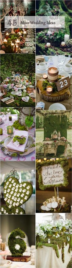45 Rustic Moss Decor Ideas for A Nature Wedding – Lisa Groh 45 Rustic Moss Decor Ideas for A Nature Wedding rustic moss wedding ideas / www. Deer Wedding, Woodland Wedding, Boho Wedding, Rustic Wedding, Wedding Flowers, Wedding Day, Wiccan Wedding, Wedding Themes, Wedding Decorations