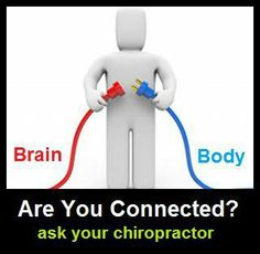 Are you connected? Mind and Body connection. ask your Chiropractic .Are you connected? Mind and Body connection. ask your Chiropractic Chiropractic Humor, Chiropractic Assistant, Benefits Of Chiropractic Care, Chiropractic Office, Chiropractic Treatment, Family Chiropractic, Clinique Chiropratique, Health Quotes, Wellness Quotes