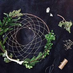 Wreath + dream catcher