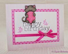 The Pink Envelope: April Birthday's! Newton's Birthday Bash stamp set by Newton's Nook Designs!
