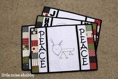 Give your home a little touch up @Corey Reece Yoder's adorable Christmas quilt placemats. You can use your own embroidery patterns and add applique designs as a finishing touch.