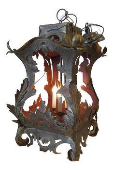 Italian Florentine Lantern Chandelier on Chairish.com