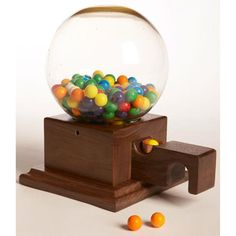 Glass-Globed Gumball Machine Woodworking Plan, Toys & Kids Furniture