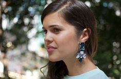 DIY RHINESTONE STATEMENT EARRINGS