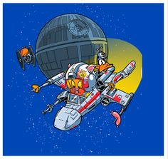 Pork Season! T-Shirt $11 Star Wars Looney Tunes mashup tee at TeeFury today only!
