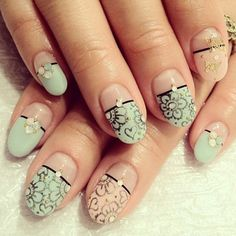 Lovely Nail Art - 35 Unique Nail Designs  <3 <3