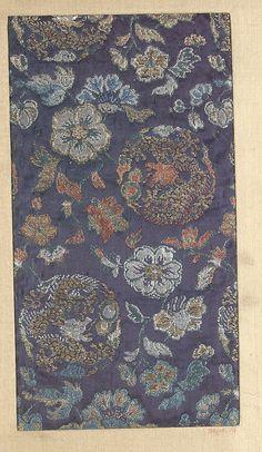 Piece Date: 18th–19th century Culture: Japan Medium: Silk Dimensions: 9 x 5 in. (22.86 x 12.70 cm)